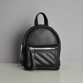 Женский рюкзак из черной кожи Baby Sport-Soft Black