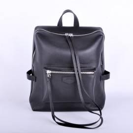 Рюкзак женский Virgo из гладкой черной кожи