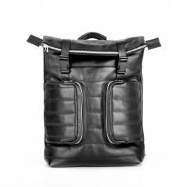 Рюкзак мужской из гладкой кожи Motto Black