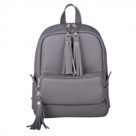 Женский рюкзак Copper Dark Grey из темно-серой кожи