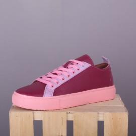 Кожаные сникерсы Classic Hot Pink