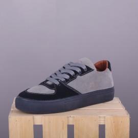 Замшевые сникерсы Hillstar Grey/Blue