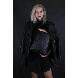 Женский рюкзак Pilot S Black Couture из гладкой черной кожи