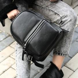 Рюкзак женский из черной кожи Narcissus Black