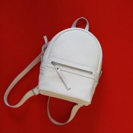 Рюкзак женский в белой коже Sport White