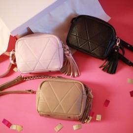 Подарочный набор из 3-х сумочек на ремешке с цепочкой