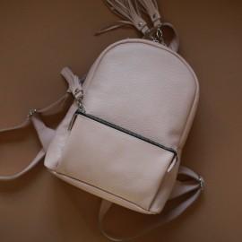 Женский рюкзак  из кожи пудрового цвета Pilot S