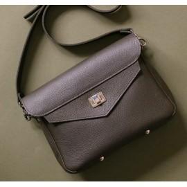 Женская сумка из серой кожи College Satchel