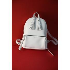 Рюкзак женский из белой кожи Pilot S белый