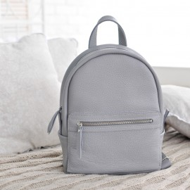 Рюкзак женский в серой коже Sport Grey