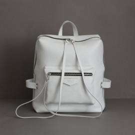 Женский Рюкзак из белой кожи Virgo White