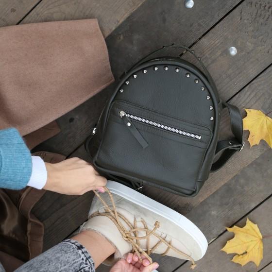 Fiji Olive кожаный рюкзак
