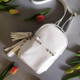 Рюкзак женский из белой кожи Scotty