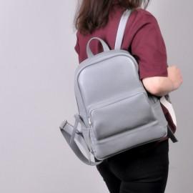 Женский рюкзак из серой кожи Copper Grey