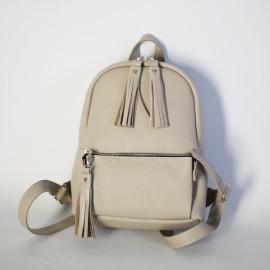 Женский рюкзак в бежевой коже Pilot S Beige