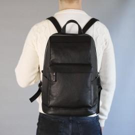 Мужской рюкзак Нуклеус из черной кожи
