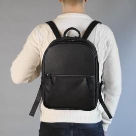 Мужской рюкзак из черной кожи Karl