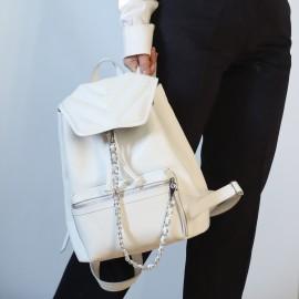 Женский рюкзак из белой кожи Marcel