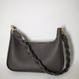 Женская сумка из серой кожи Merlin