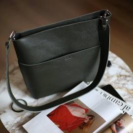 Женская сумка из оливковой кожи Marta olive