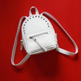 Рюкзак женский из белой кожи Baby Sport White