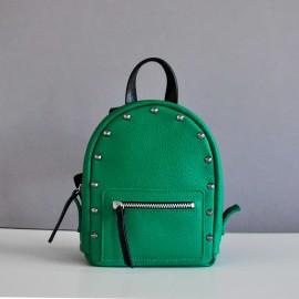 Рюкзак женский из зеленой кожи BabySport